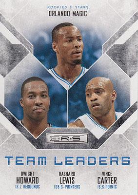2010-11 Rookies and Stars Team Leaders Black #22 Dwight Howard Rashard Lewis Vince Carter