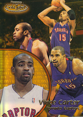 2000-01 Topps Gold Label Class Premium #69 Vince Carter