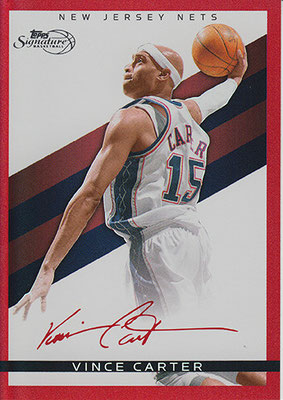 2008-09 Topps Signature Facsimile Red #TSVC Vince Carter