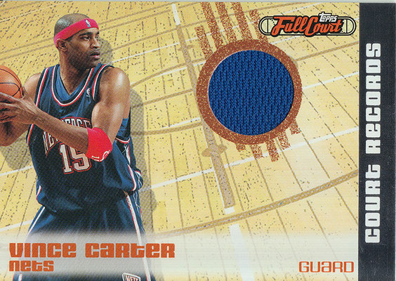 2006-07 Topps Full Court Court Records Relics #CR6 Vince Carter