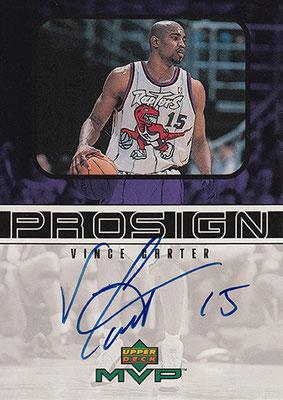 1999-00 Upper Deck MVP ProSign #VC Vince Carter