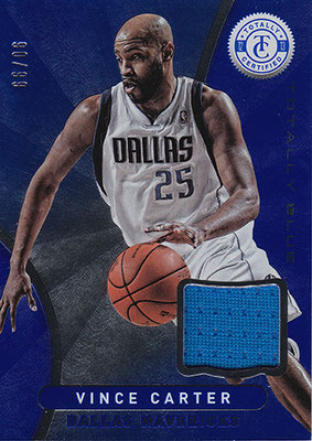2012-13 Totally Certified Blue Materials #54 Vince Carter