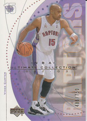 2002-03 Ultimate Collection #63 Vince Carter