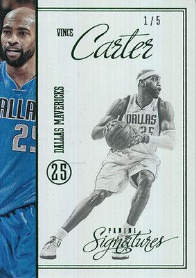 2012-13 Panini Signatures Stars Green #210 Vince Carter