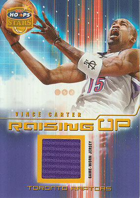 2002-03 Hoops Stars Raising Up Game-Used #15 Vince Carter