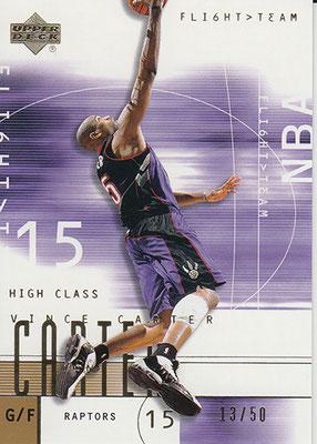 2001-02 Upper Deck Flight Team Gold #15 Vince Carter