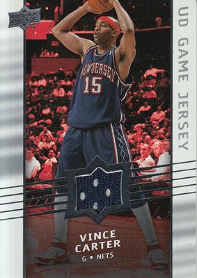 2008-09 Upper Deck Game Jerseys #GAVC Vince Carter