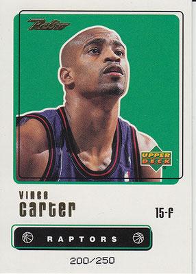 1999-00 Upper Deck Retro Gold #38 Vince Carter