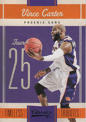 2010-11 Classics Timeless Tributes Silver #25 Vince Carter