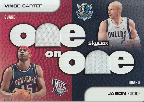 2008-09 SkyBox One on One Dual #OOKC Jason Kidd_Vince Carter