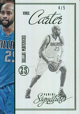 2012-13 Panini Signatures Stars Green #205 Vince Carter