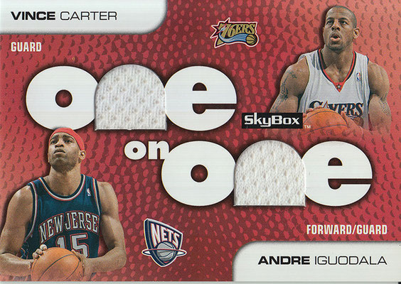2008-09 SkyBox One on One Dual #OOCI Andre Iguodala_Vince Carter