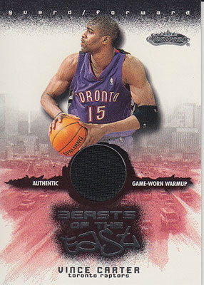 2001-02 Fleer Showcase Beasts of the East #1 Vince Carter