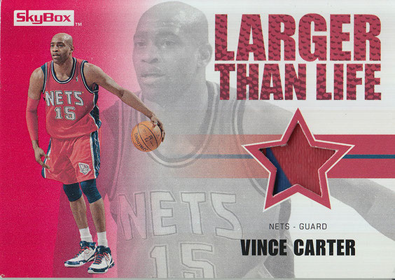 2008-09 SkyBox Larger Than Life Patches #LLVC Vince Carter