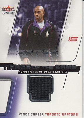 2002-03 Fleer Genuine Names of the Game Jerseys #6 Vince Carter