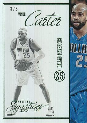 2012-13 Panini Signatures Stars Green #207 Vince Carter