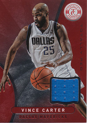 2012-13 Totally Certified Red Materials #54 Vince Carter