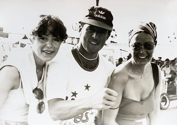 1980 mit Ursula und Mami in Korfu