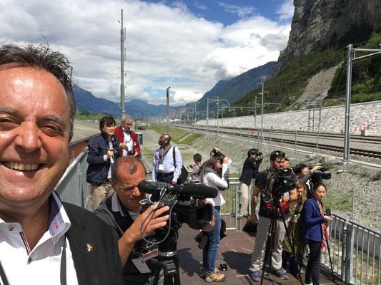 Internat. Medienarbeit zur Gotthard-Tunnel-Eröffnung