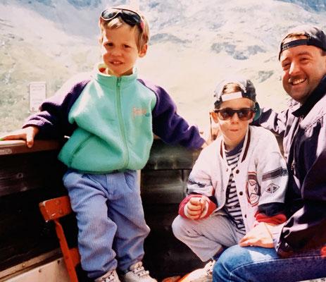 23.8.96: Die coolen Jungs in den Bergen