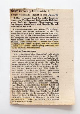1978: Der Zürcher Oberländer berichtet
