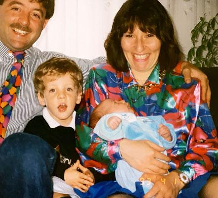 11.4.1993: Marino ist da - unsere Familie ist komplett!