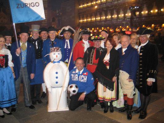 EURO'08-Promotion mit den Zunftmeistern am Carneval von Venedig