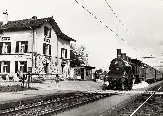 1984: Alter Zug, alter Bahnhof - aber junger Stationsvorstand...