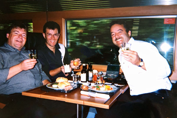 Wir waren wohl in fast jedem Speisewagen Europas, der über ein überdurchschnittliches Gastronomieangebot verfügt.