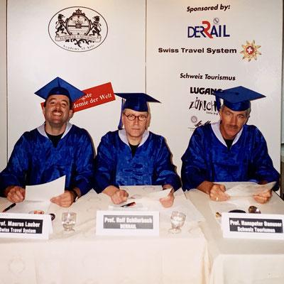 1995: In dieser Funktion war ich auch jährlich an der DERTOUR-Reisedakademie irgendwo in der Welt. Hier in Los Angeles