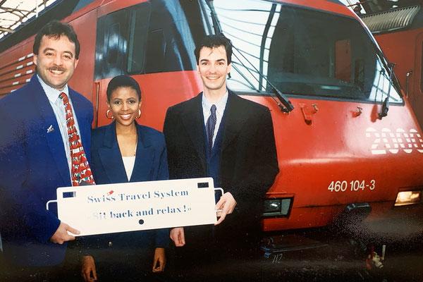 1991 übernahm ich das Thema Swiss Travel System und betreute verschiedene Gäste - auch die Miss World 1994