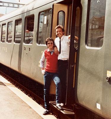 Mit meinem WG Partner Pascal aus La Neuveville unterwegs mit Bahn und Schiff nach Marokko