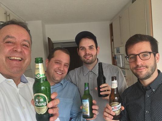 2018: Ein Bierchen in Ehren mit Michi und Silvan