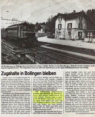 1984: Wir taten alles, damit mehr Gäste den Bahnhof benutzen