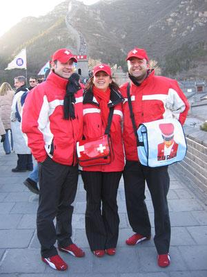 Mit Thomas Lüthi und Marceline Kuonen auf der Chinesischen Mauer