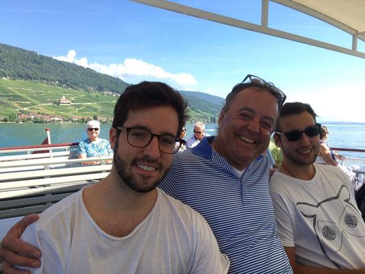 2018: Familienausflug in die Westschweiz mit Boot, ...