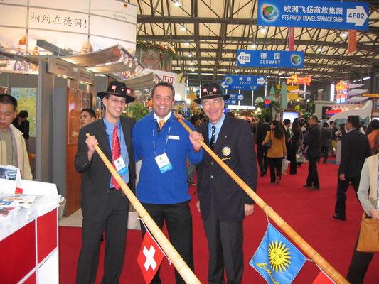 Unterwegs für Zürich Tourismus in Shanghai mit Hanspeter Danuser und Urs Brütsch