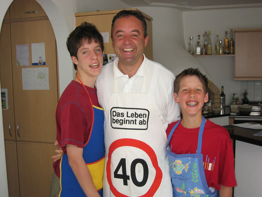 05/2002: Die Männer kochen mal wieder für Mama