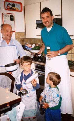 14.5.1995: Muttertag: Die Männer kochen wie wild