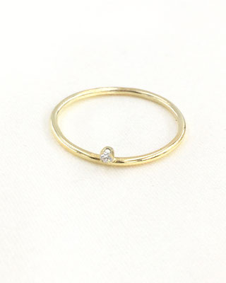 "Astrid Siber - Ring ""Minimal Diamond"" - Gold, Diamant"