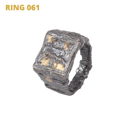 """Ring aus der Serie Glam Rocker   925 Sterlingsilber geschwärzt   14kt Gelbgold aufgeschmolzen   *handmade  <br><a href=""""https://www.caroertl.com/shop/ringe/ring-061/"""" target=""""_blank"""" p style=""""color:#d5a93e""""> zum SHOP ...</a>"""