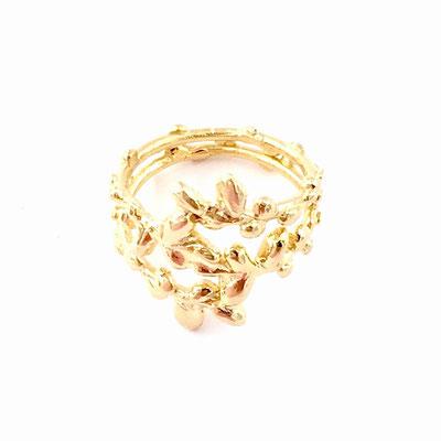 Astrid Siber - Blätterring - Silber vergoldet