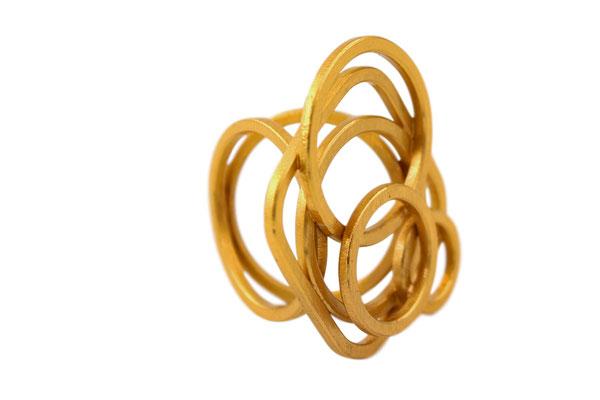 """Heike Wanner - Ring aus der Serie """"Alles wird gut"""" - Silber vergoldet"""
