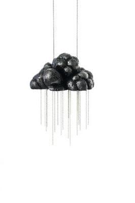Cumulus Nimbus II / necklace / balsa wood, silver