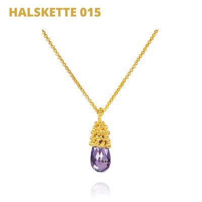 """Halskette aus der Serie Good Girl   925 Sterlingsilber, vergoldet    Amethyst facettiert   *handmade  <br><a href=""""https://www.caroertl.com/shop/halsketten/halskette-015/"""" target=""""_blank"""" p style=""""color:#d5a93e""""> zum SHOP ...</a>"""