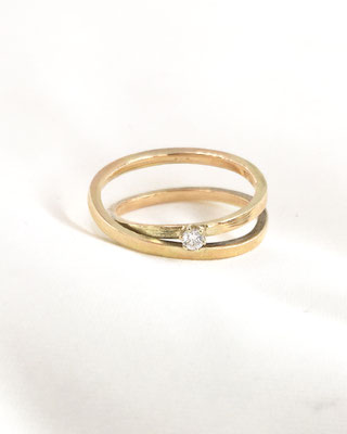 "Astrid Siber - Ring ""Endless Love"" - Gold, Diamant"