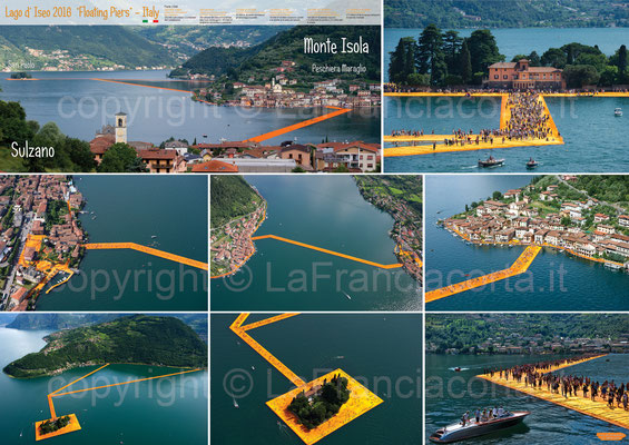 The Floating Piers fotografo per foto aeree