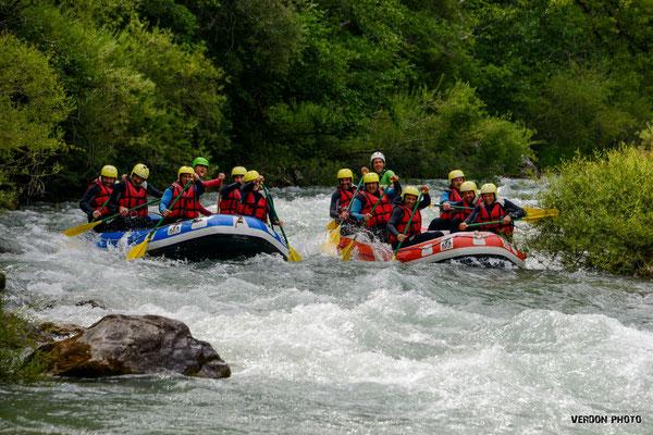 White water rafting Verdon