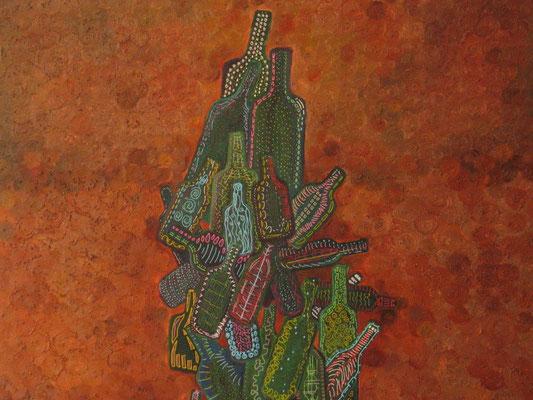 Le terroir 100X81cm, acrylique sur toile. (Collection priveé, Vieux-Boucau)