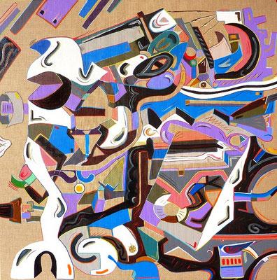Vibra ! / Vibration ! 80x80 cm acrylique et huile sur toile (acrílico y óleo sobre tela) 2013.